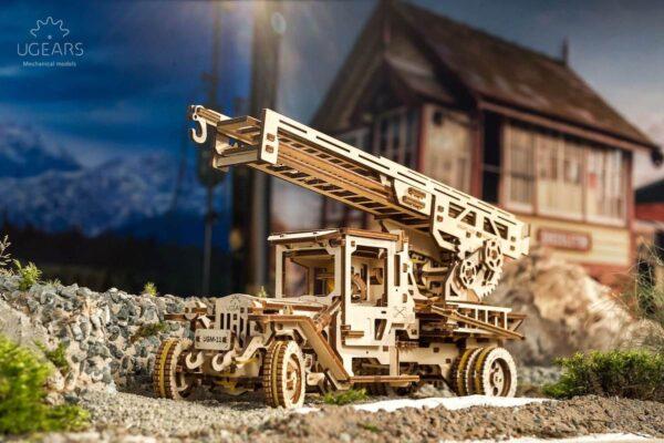 Camion Echelle Ugears – Puzzle 3d en bois + 6