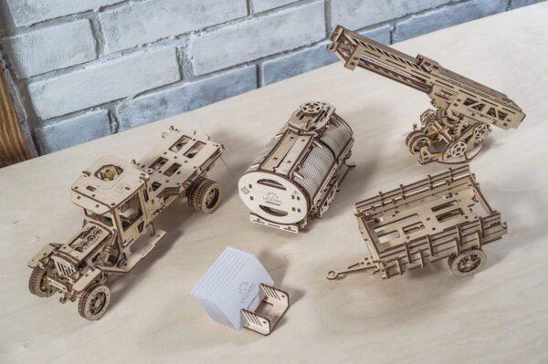 """Pack """"Rouler des Mécaniques"""" – Puzzles 3D Mécaniques – Ugears France + 1"""