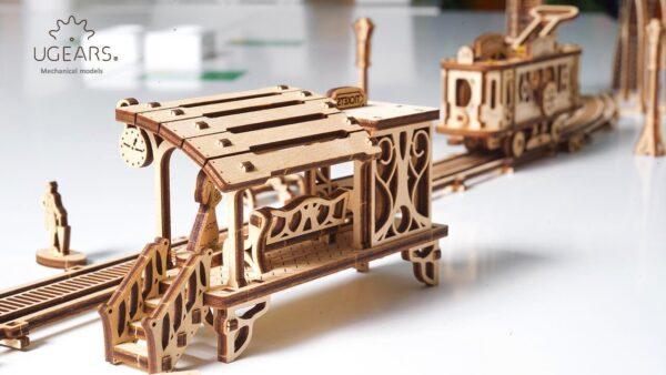 Ligne de Tram – Puzzle 3D Mécanique en bois – Ugears France + 6