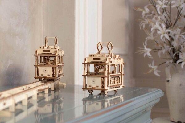 Tram – Puzzle 3d Mécanique en bois – Ugears France + 7