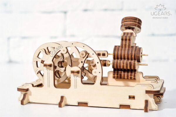 Moteur Pneumatique – Puzzle 3d Mécanique en bois – Ugears France + 7