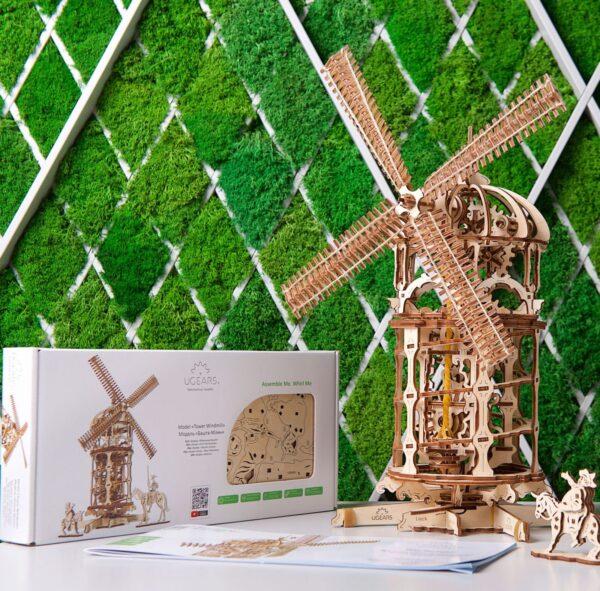 Moulin à Vent Ugears – Puzzle 3d en bois + 8