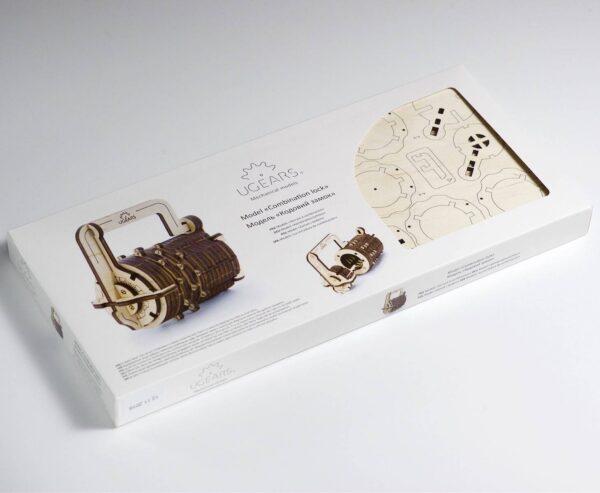 Serrure Cryptex Ugears – Puzzle 3d en bois + 8