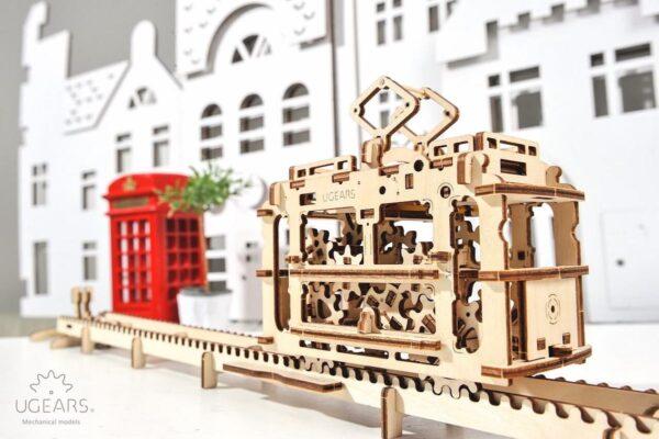Tram – Puzzle 3d Mécanique en bois – Ugears France + 6