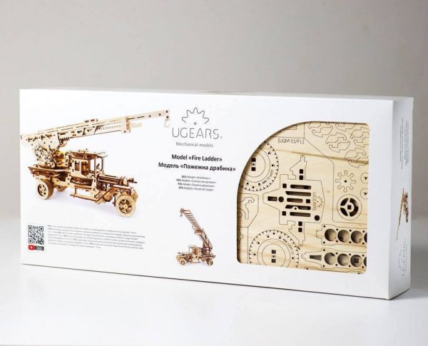 Camion Echelle Ugears – Puzzle 3d en bois + 8