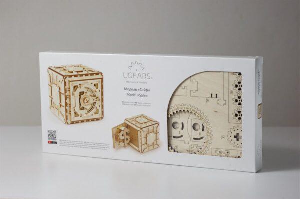 Coffre-Fort Ugears – Puzzle 3d en bois + 8