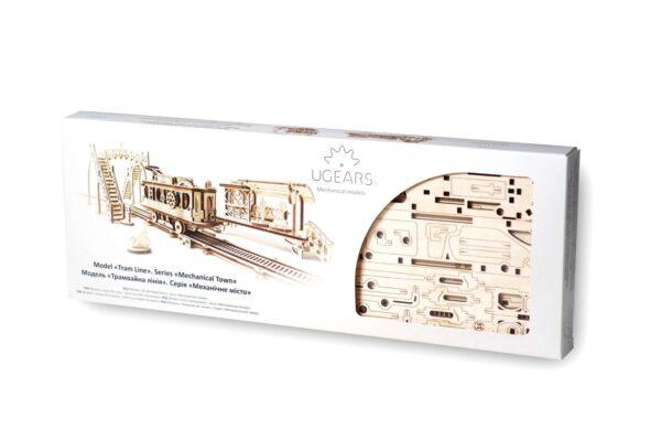 Ligne de Tram – Puzzle 3D Mécanique en bois – Ugears France + 7