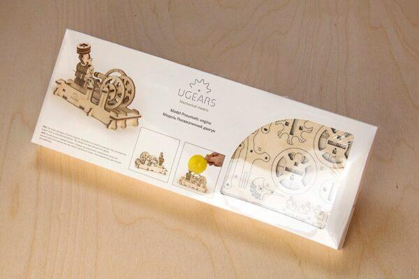Moteur Pneumatique – Puzzle 3d Mécanique en bois – Ugears France + 8