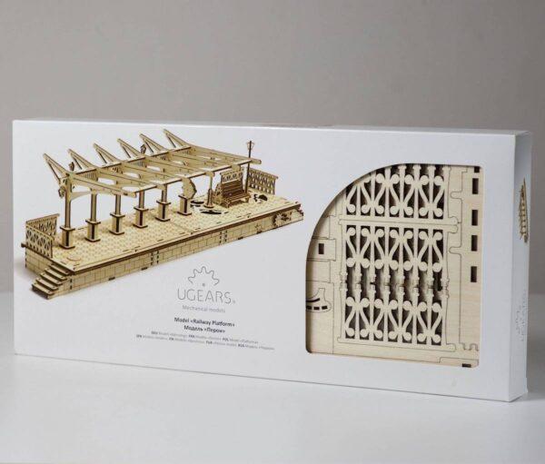 Perron de gare – Puzzle 3d Mécanique en bois – Ugears France + 8