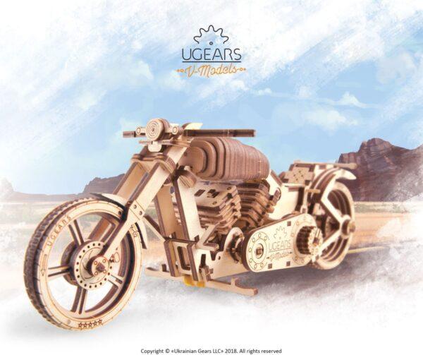 Moto VM-02 Ugears – Puzzle 3d en bois + 7