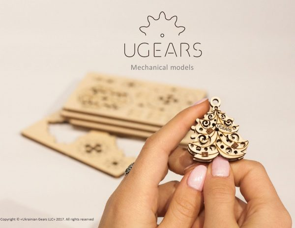 U-Fidget Happy New Gear – Puzzle 3d Mécanique en bois – Ugears France + 7