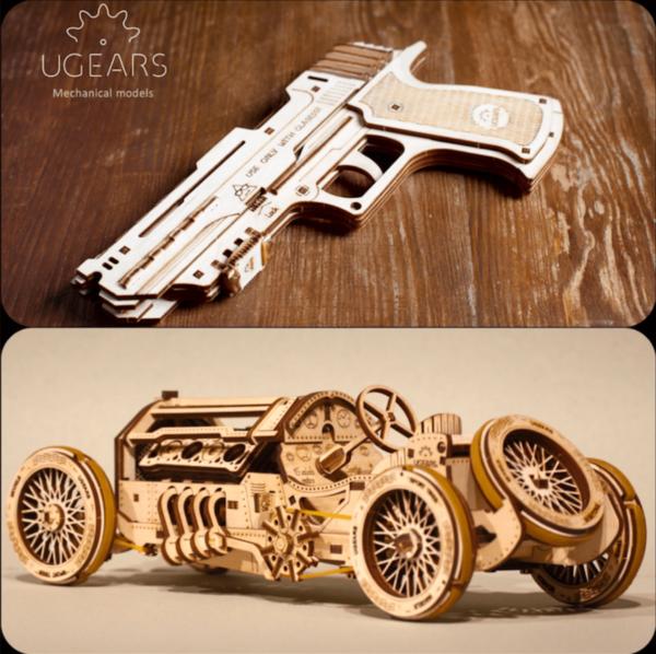 """Pack """"Agent Secret"""" – Puzzle 3d Mécanique en bois – Ugears France"""
