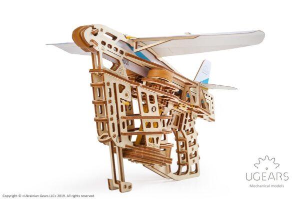 Aéro-Lanceur-Ugears-puzzle 3d mécanique en bois