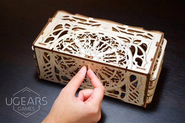 """Card Holder """"Coffret à Cartes"""" – Puzzle 3D Mécanique en bois – Ugears Games France"""