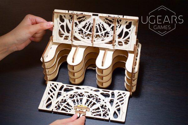 """Card Holder """"Coffret à Cartes"""" – Puzzle 3D Mécanique en bois – Ugears Games France + 1"""