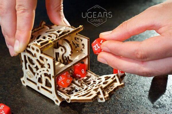"""Dice Keeper """"Gardien de Dés"""" – Puzzle 3D Mécanique en bois – Ugears Games France + 1"""
