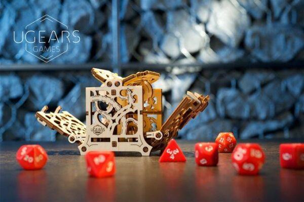 """Dice Keeper """"Gardien de Dés"""" – Puzzle 3D Mécanique en bois – Ugears Games France + 2"""
