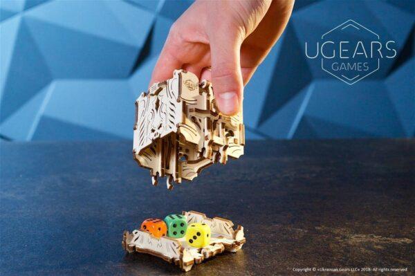"""Modular Dice Tower """"Tour à Dés Modulable"""" – Puzzle 3D Mécanique en bois – Ugears Games France + 2"""