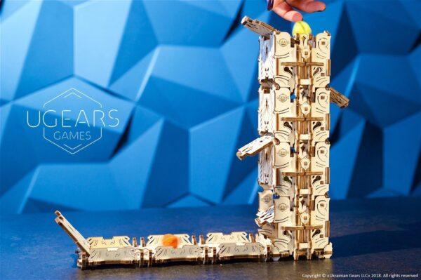 """Modular Dice Tower """"Tour à Dés Modulable"""" – Puzzle 3D Mécanique en bois – Ugears Games France"""