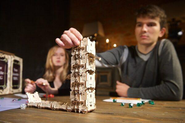 """Modular Dice Tower """"Tour à Dés Modulable"""" – Puzzle 3D Mécanique en bois – Ugears Games France + 10"""