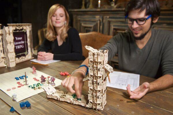 """Modular Dice Tower """"Tour à Dés Modulable"""" – Puzzle 3D Mécanique en bois – Ugears Games France + 11"""