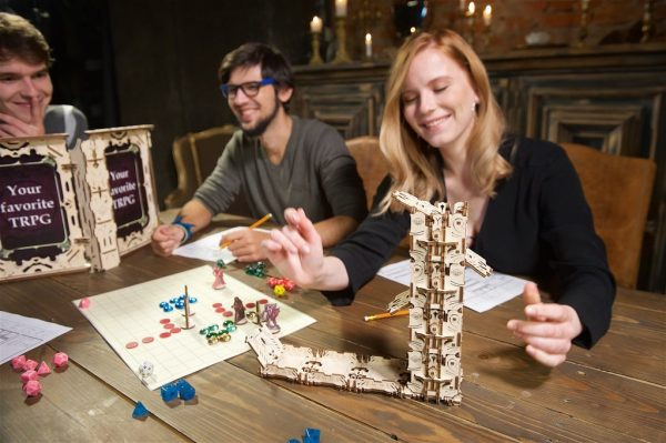 """Modular Dice Tower """"Tour à Dés Modulable"""" – Puzzle 3D Mécanique en bois – Ugears Games France + 12"""