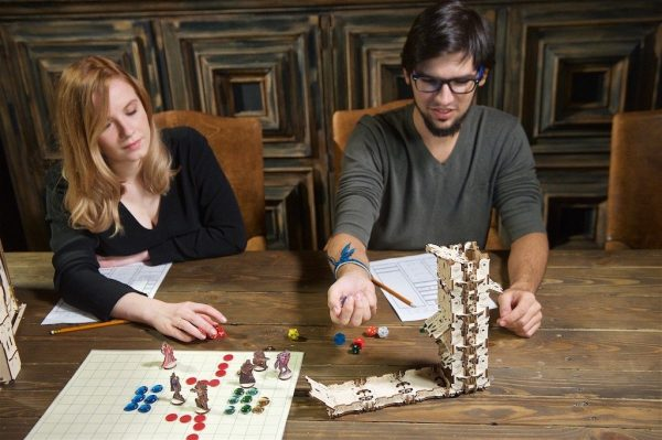 """Modular Dice Tower """"Tour à Dés Modulable"""" – Puzzle 3D Mécanique en bois – Ugears Games France + 13"""