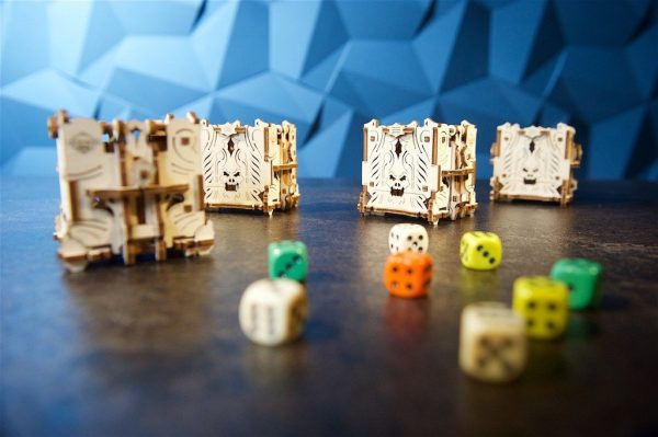 """Modular Dice Tower """"Tour à Dés Modulable"""" – Puzzle 3D Mécanique en bois – Ugears Games France + 3"""