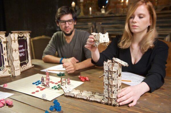 """Modular Dice Tower """"Tour à Dés Modulable"""" – Puzzle 3D Mécanique en bois – Ugears Games France + 14"""