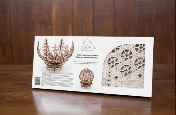 Fleur Lila-Ugears-puzzle 3d mécanique en bois-1