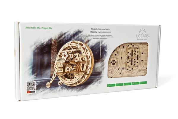 Monoroue Ugears-puzzle 3d mécanique en bois