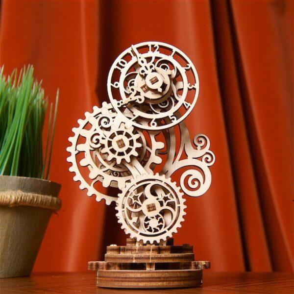 Horloge Steampunk Ugears – Puzzle 3d en bois + 4