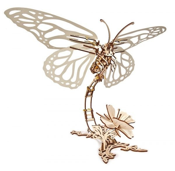 Papillon Ugears – Puzzle 3d en bois + 4