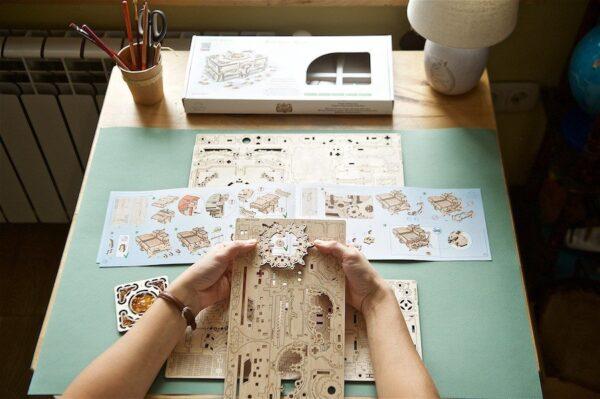 Boîte Ambre Ugears – Puzzle 3d en bois + 5
