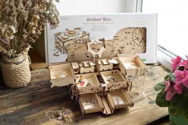 Boîte Ambre Ugears – Puzzle 3d en bois + 6