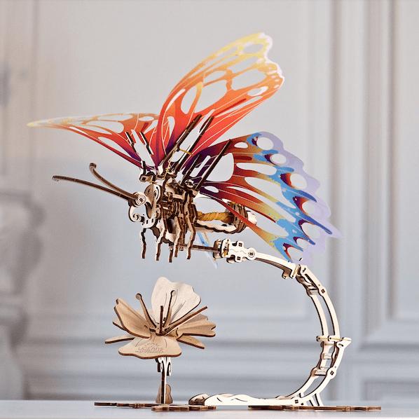 Papillon Ugears – Puzzle 3d en bois + 11