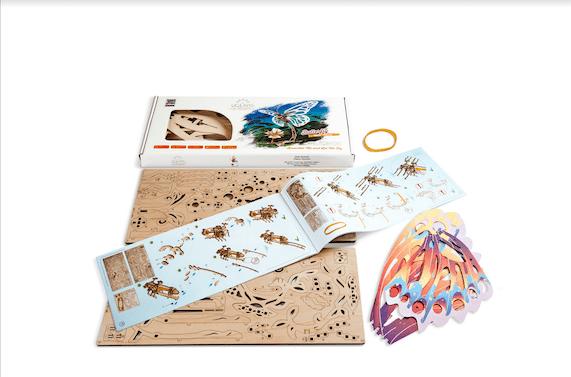 Papillon Ugears – Puzzle 3d en bois + 13