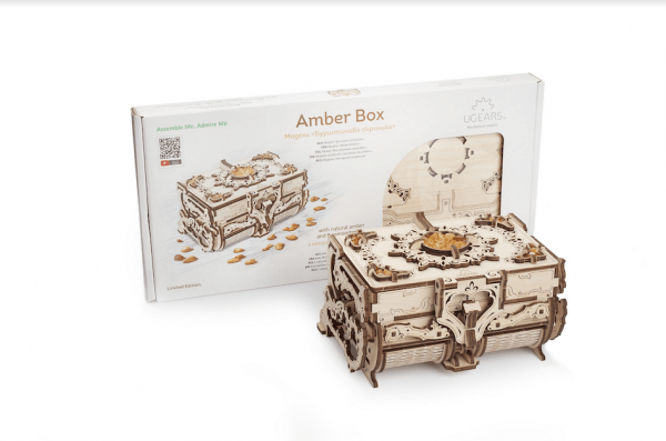 Boîte Ambre – Puzzle 3d Mécanique en bois – Ugears France