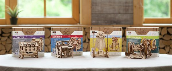Boîte de Vitesses STEM Ugears – Puzzle 3d en bois + 12