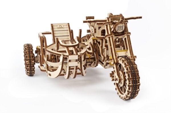 Moto Scrambler UGR-10 avec Side-Car Ugears – Puzzle 3d en bois