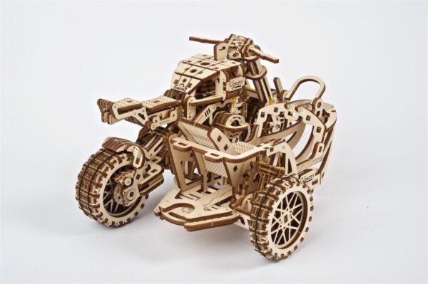 Moto Scrambler UGR-10 avec Side-Car Ugears – Puzzle 3d en bois + 1