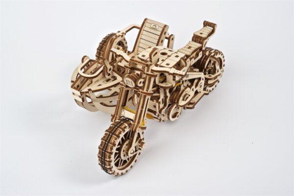 Moto Scrambler UGR-10 avec Side-Car Ugears – Puzzle 3d en bois + 5