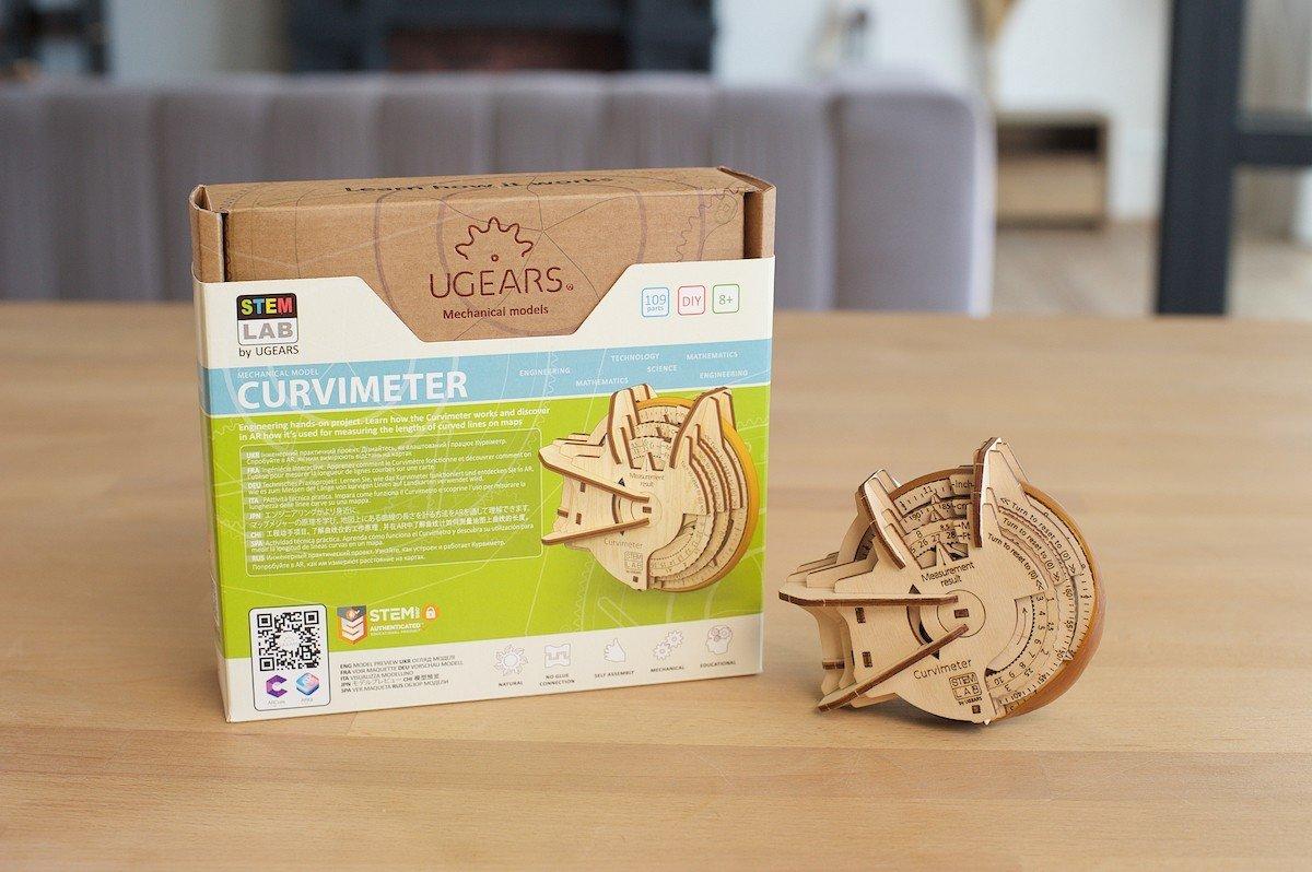 Curvimètre STEM Ugears – Puzzle 3d en bois2