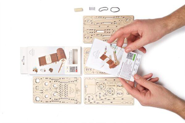 Support Téléphone Pliable Ugears – Puzzle 3d en bois + 5