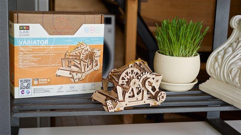 Variateur STEM Ugears – Puzzle 3d en bois