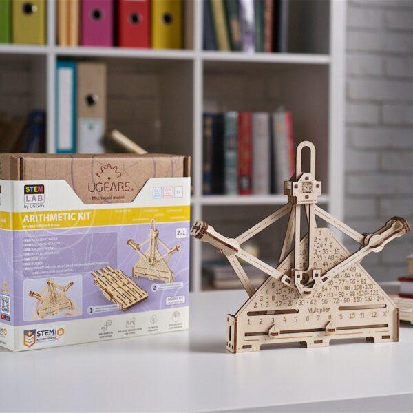 Kit Arithmétique STEM Ugears – Puzzle 3d en bois + 4