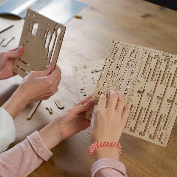 Kit Arithmétique STEM Ugears – Puzzle 3d en bois + 2