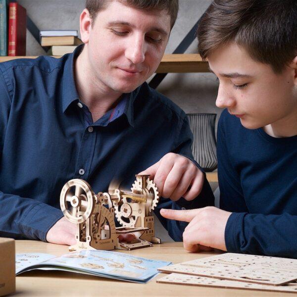 Tachymètre STEM Ugears – Puzzle 3d en bois + 6