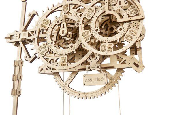 Horloge-Aéro Ugears – Puzzle 3d en bois + 4