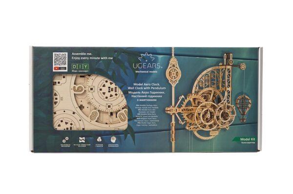 Horloge-Aéro Ugears – Puzzle 3d en bois + 8